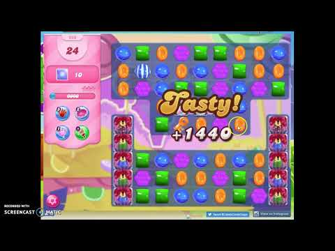 Candy Crush Level 956 Audio Talkthrough, 1 Star 0 Boosters