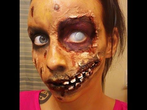 Halloween Series 2012: Rotting Zombie Makeup Tutorial - YouTube