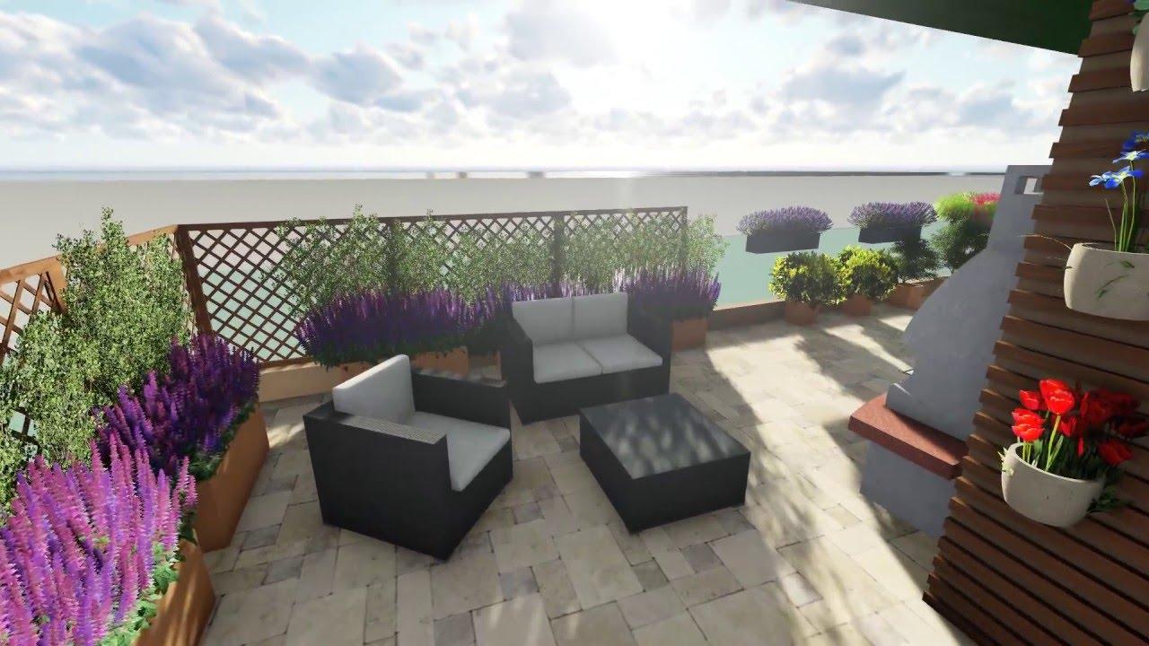 Un rifugio in città: progettazione terrazzo genovese - YouTube