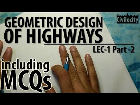Geometric Design Of Highways | Highway Engineering | Lec-1 Part-2 | GATE