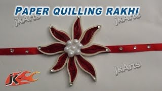 DIY Paper Quilling Rakhi for Raksha Bandhan | How to make |  JK Arts 260