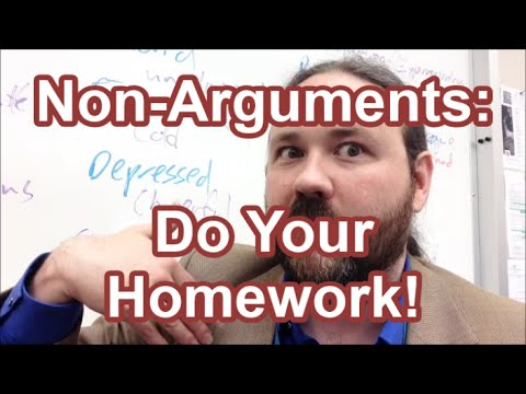 the homework argument