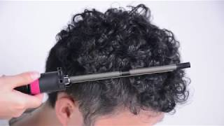 9mm Curling Iron Wand Hair Curler Styling Tool With 360 Degree Clip HS209A
