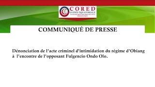 Acte criminel du regime d'Obiang contre Fulgencio Ondo Olo