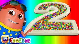 Surprise Eggs Ball Pit Show for Kids to Learn NUMBERS 1-10  | ChuChu TV Funzone 3D for Children