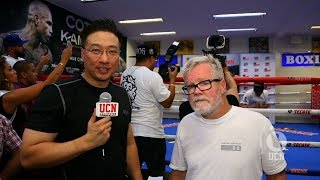 Freddie Roach Interview at Miguel Cotto Media Workout - UCN EXCLUSIVE