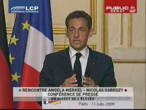 Conférence de presse d'Angela Merkel et Nicolas Sarkozy - Evénement (11/06/2009)