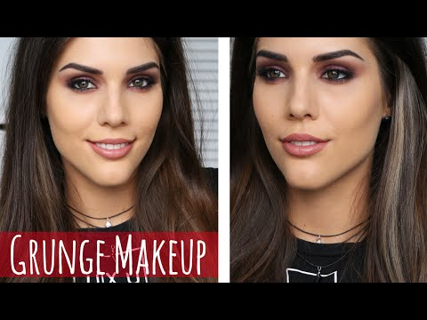 tumblr grunge makeup tutorial burgundy smokey eye
