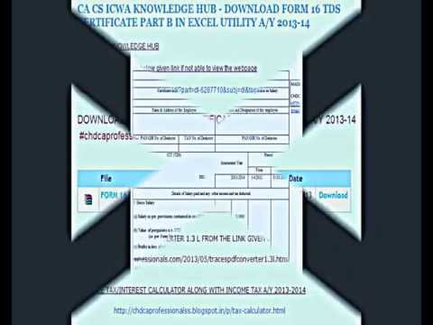 form16 part b tds certificate in excel a y 2013 14 automatic tax