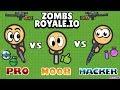 EPIC BATTLE NOOB vs PRO vs HACKER in ZOMBSROYALE.IO !!! | Fortnite.io by LeeZY