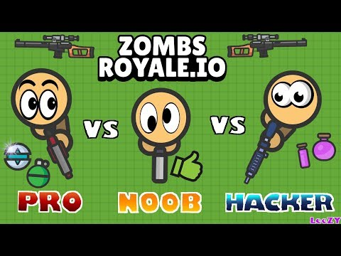 EPIC BATTLE NOOB Vs PRO Vs HACKER In ZOMBSROYALE.IO !!! | Fortnite.io By LeeZY