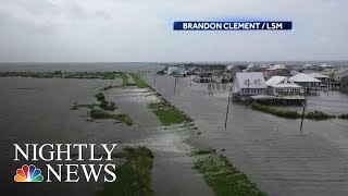 Barry's Slow Move North: Storm Brings Heavy Rain And Flash Flood Threat | NBC Nightly News