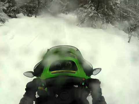 A Blast through Muskoka trails on an Artic cat 370Z