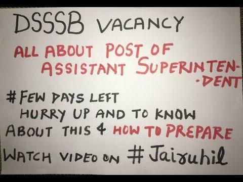 Dsssb assistant superintendent 2017, dsssb 2017 exam pattern