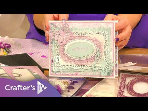 Sara Signature Vintage Lace Provence Frame Cut & Emboss Folder tutorial thumbnail