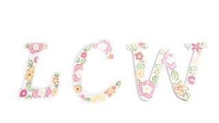 Paint Flowers On Wood Letters - Daisy Daze