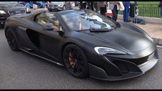 [4k] Nice McLaren 675 LT Spider in Monte Carlo, Monaco