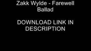 Zakk Wylde - Farewell Ballad + (DOWNLOAD)