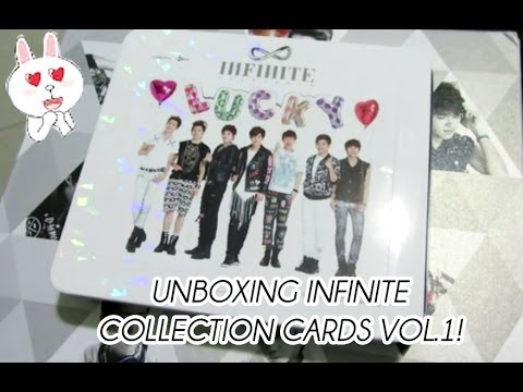 [UNBOXING] Infinite Official Collection Cards Vol.1
