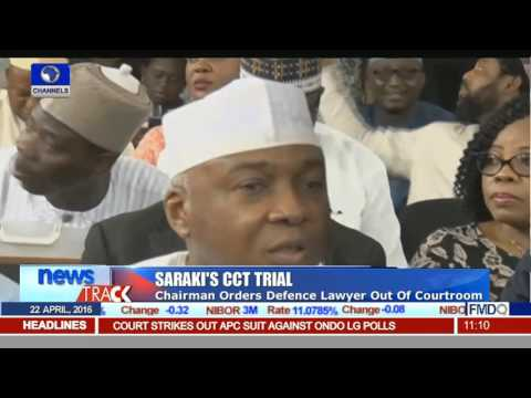 Saraki's CCT Trial: Chairman Orders Defence Lawyer Out Of Courtroom