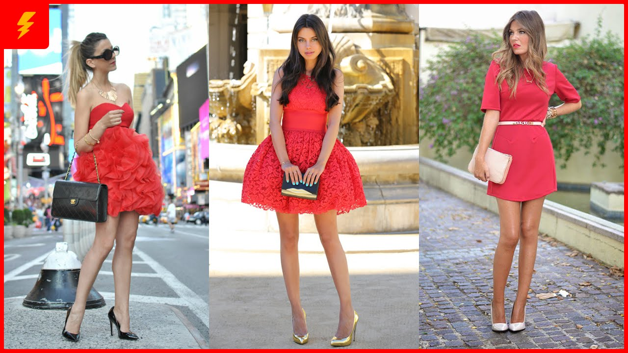 How to Wear Red Dresses - YouTube