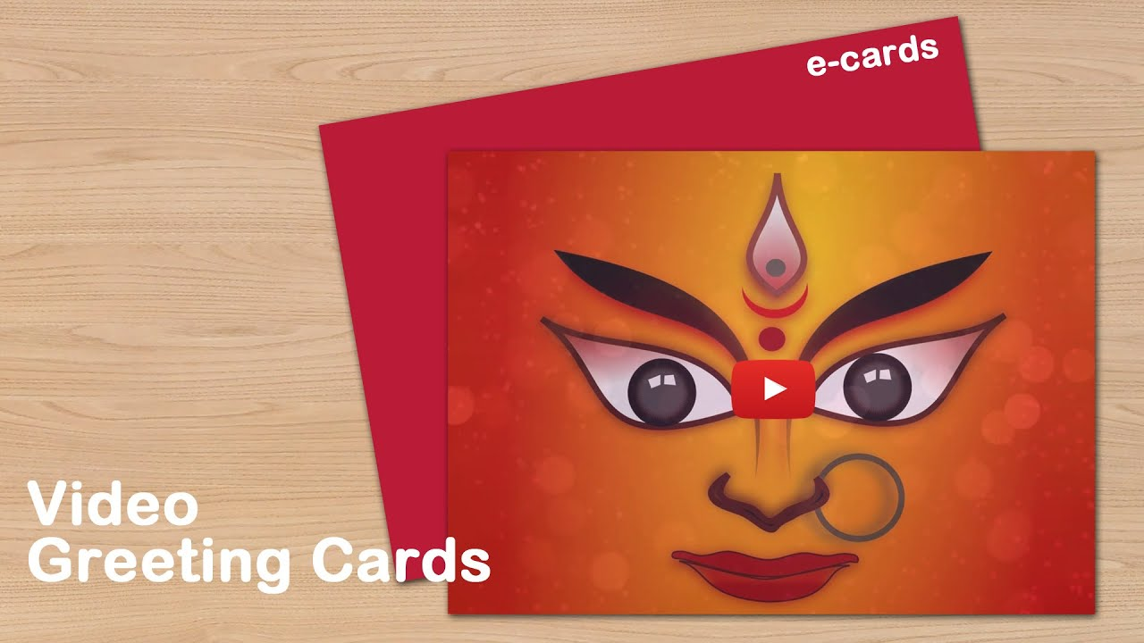 Happy Navratri Video Greeting Cards Youtube