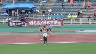 福岡県中学通信陸上 3年男子100m準決勝2組 石井慶 検索動画 4