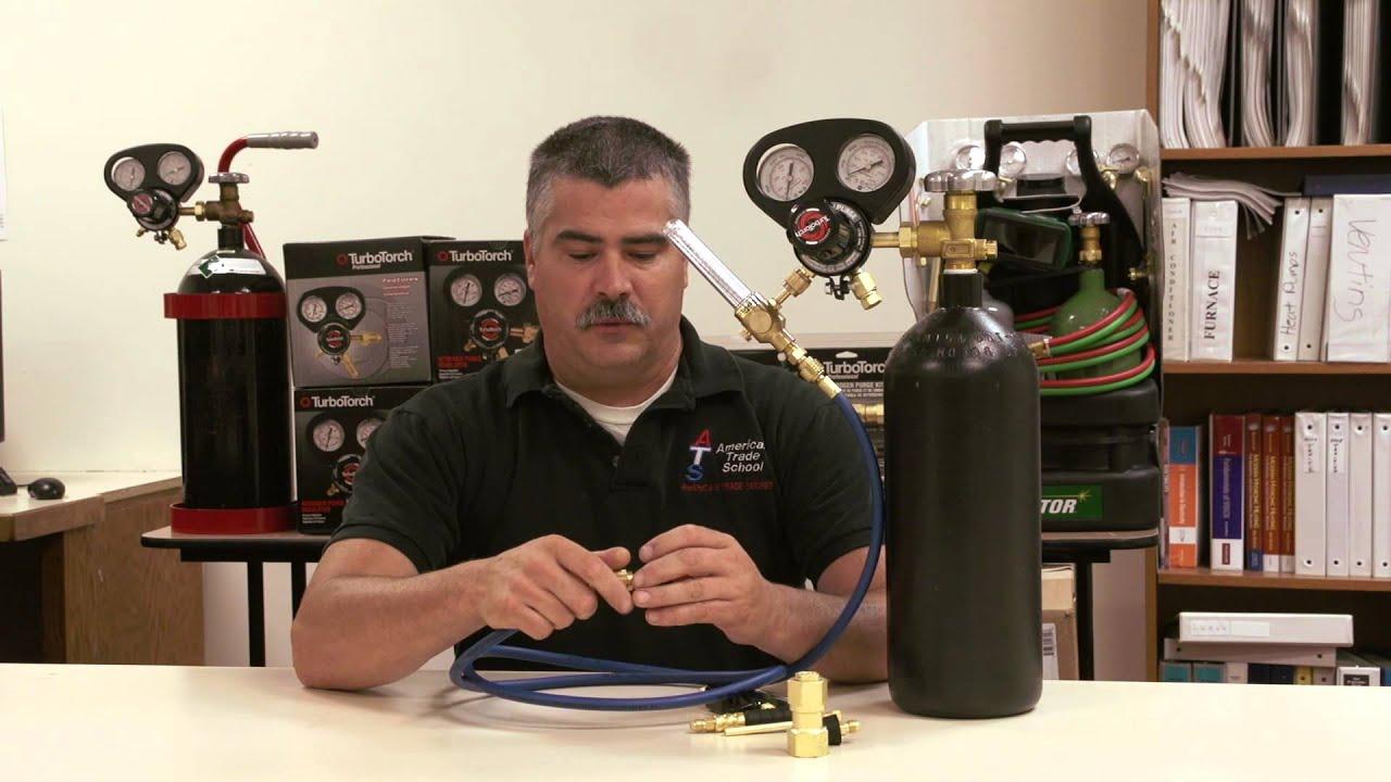 Nitrogen Purge Kit Improves Brazing Results On Copper Pipe