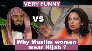 why Muslim WOMEN wear HIJAB ? why Muslim MEN keep BEARD ? Brigitte Gabriel Vs Mufti Menk  VERY FUNNY
