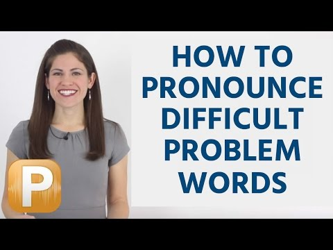 How To Ounce Difficult Words In English Problem Words