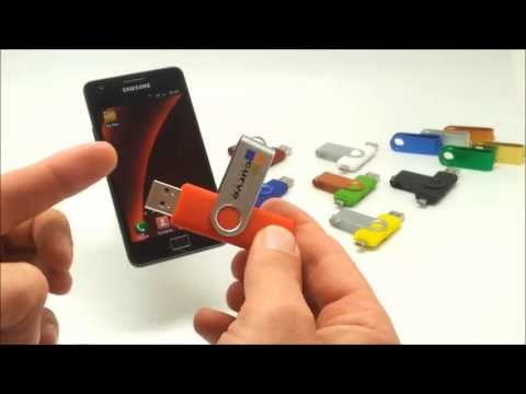 New mobile USB flash drive - USB on-the-go demo with Samsung Galaxy S2