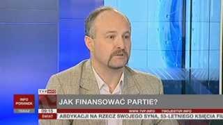 Wawrzyniec Konarski o zmianach, jakie trzeba wprowadzić w finansowaniu partii (TVP Info, 21.07.2013)