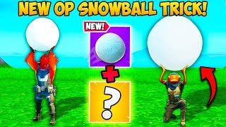 *NEW TRICK* GIANT SNOWBALLS ARE BROKEN!! - Fortnite Funny Fails and WTF Moments! #774