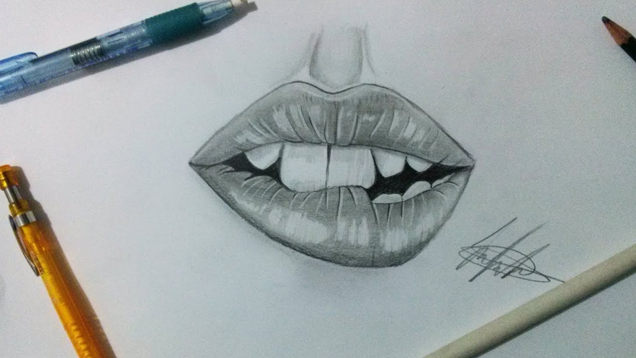 Fast Tutorial Como Desenhar Labios 1 How To Draw A Lips Youtube