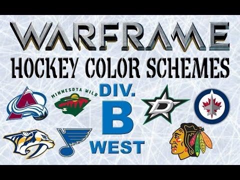 WARFRAME NHL Hockey Skins (Western Conference, Division B)