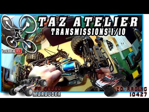 TAZ ATELIER : Transmission 1/10 / ZD RACING 10427 sur le Banc !
