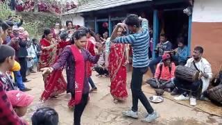 syangjali panche baja dance style at sirindanda by kml