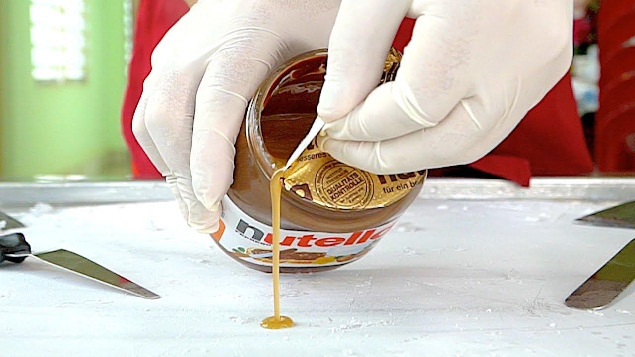 The Best Nutella Ice Cream Rolls Ever Doovi