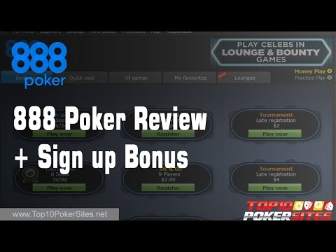 888 Poker Review + 100% upto $400 Welcome Bonus