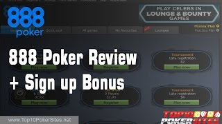 888 Poker Review + 100% upto $400 Welcome Bonus