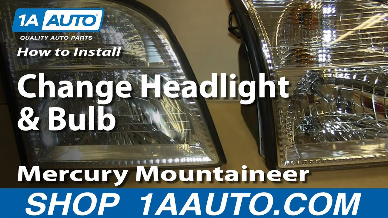 how to install replace change headlight and bulb 2002