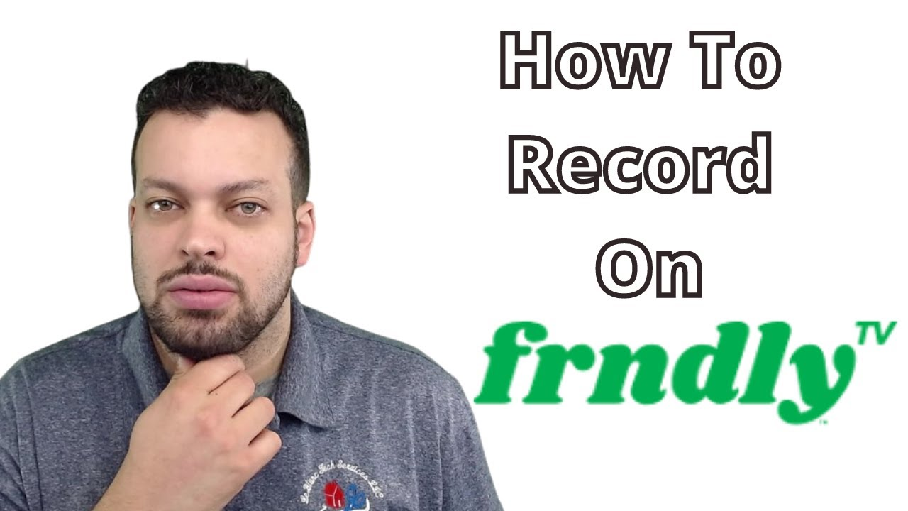 How to record on Frndly TV 2021 - YouTube