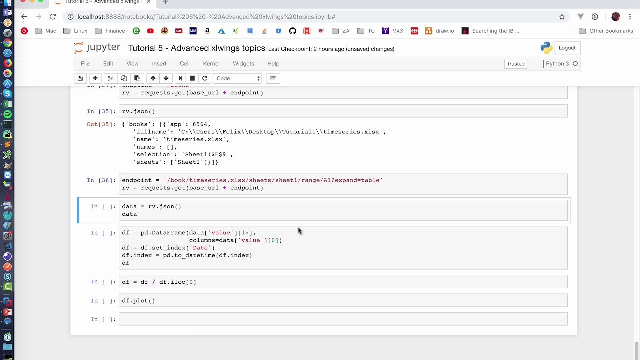 xlwings Excel REST API