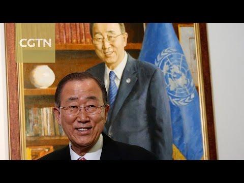 Ban Ki-moon delivers his farewell speech to UN
