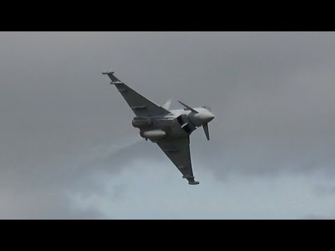 Eurofighter Typhoon FGR4 Royal Air Force flying Display RIAT 2017 AirShow
