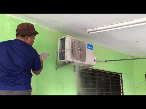 Midea Split Air Conditioner Chemical Cleaning (Outdoor Condenser Unit)