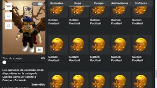Showing all the things I have in the ROBLOX inventory