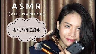 ASMR Tự Trang Điểm (tapping, chải tóc, cọ, mouth sounds) | ASMR makeup application (vietnamese)