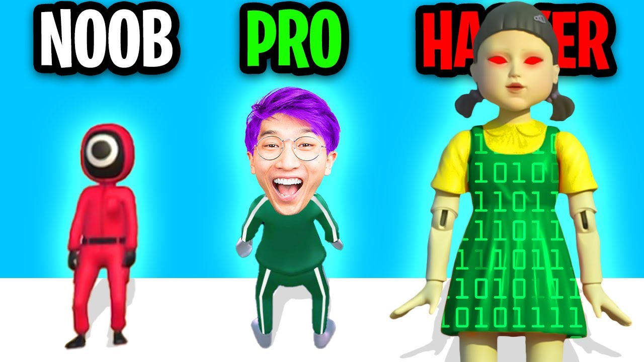 Download NOOB vs PRO vs HACKER In SQUID GAME CHALLENGE!? (ALL LEVELS!)