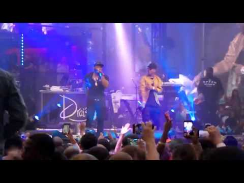 50 cent, Jeremih and Trey song performs at Drai's nightclub Las Vegas (29.May.2016)
